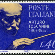 ITALY - 1967: shows Arturo Toscanini (1867-1975), ItaliConductor — Stock Photo #31716759