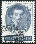 CZECHOSLOVAKIA - 1953: shows Josef Slavik (1806-1833), Czech violinist and composer — Stock Photo