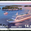 Stock Photo: RUSSI- 2013: shows Passenger Ferry Princess Anastasia, Passenger Ferries Ship Boat Joint issue with Aland (Finland)