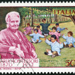 ITALY - 1970: shows Dr. Maria Montessori (1870-1952) and Children — Stock Photo