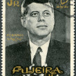FUJEIRA - 1965: shows Portrait of John F. Kennedy (1917-1963) — Stock Photo