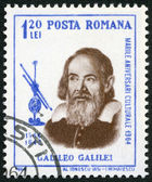 ROMANIA - 1964: shows Galileo Galilei (1564-1642), issued for the 400th birth anniversary — Foto Stock