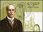 CUBA - 1993: shows Rudolf Diesel (1858-1913), 80th anniversary of death — Foto de Stock