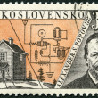 CZECHOSLOVAKI- 1959: shows Alexander S. Popov (1859-1905), Issued to honor inventors in fields of telegraphy and radio — Stock Photo #33232847