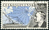 CZECHOSLOVAKIA - 1959: shows Guglielmo Marconi (1874-1937), Issued to honor inventors in the fields of telegraphy and radio — Stock Photo