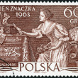POLAND - 1963: shows Love Letter by Wladyslaw Czachorski, Issued for Stamp Day — Stock Photo