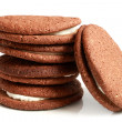 Stock Photo: Stack of cookies with cream