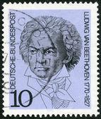 GEMANY - 1970: shows Ludwig van Beethoven (1770-1827), composer — Zdjęcie stockowe