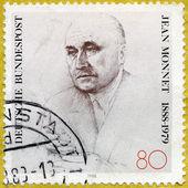 GERMANY - 1988: shows Jean Monnet (1888-1979), French Statesman — Fotografia Stock