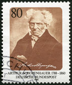 GERMANY - 1988: shows Arthur Schopenhauer (1788-1860), philosopher — Stock Photo