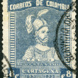 COLOMBIA - 1933: shows Pedro de Heredia (circa 1505-1554) — Zdjęcie stockowe