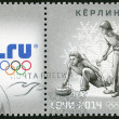 RUSSIA - 2013: shows XXII Olympic Winter Games in Sochi 2014, Olympic winter Sports, curling — Stock Photo #34736051