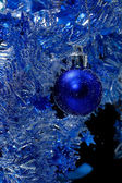 Blue christmas card — Stockfoto