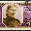 USSR - 1956: shows G. N. Fedotov(1846-1925), actress — Stock Photo #36830607
