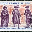 FRANCE - 1971: shows Cardinal, Nobleman and Lawyer, commemorates the opening of the Estates General, May 5, 1789 — Stock Photo #36996117