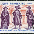 Stock Photo: FRANCE - 1971: shows Cardinal, Noblemand Lawyer, commemorates opening of Estates General, May 5, 1789