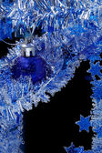 Blue christmas card — ストック写真