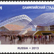 RUSSIA - 2013: shows Fisht Olympic Stadium, Olympic Sports Venues of the XXII Olympic Winter Games and XI Paralympic Winter Games 2014 in Sochi — Stock Photo