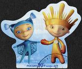 Russie - 2012 : spectacles mascottes de Xi Jeux paralympiques de Sochi 2014 - flocon de neige et Ray — Photo