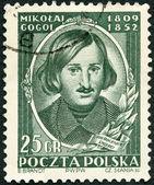 Polen - 1952: visar nikolai gogol (1809-1852), författare, död hundraårsdagen — Stockfoto