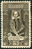 USA - 1964: shows William Shakespeare (1564-1616), 400th birth anniversary — Stock Photo