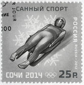 RUSSIA - 2012: shows XXII Olympic Winter Games in Sochi 2014, Olympic winter Sports, luge — Stock Photo