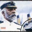 Stock Photo: ST. THOMAS AND PRINCE ISLANDS - 1998: shows Captain Edward John Smith and Titanic