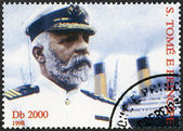 ST. THOMAS AND PRINCE ISLANDS - 1998: shows Captain Edward John Smith and Titanic — Foto Stock