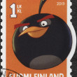 FINLAND - 2013: shows Bomb, Black Bird (Angry Birds) by Rovio Entertainment — Stock Photo #38621327