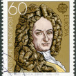 Stock Photo: GERMANY - 1980: shows Gottfried Wilhelm Leibniz (1646-1716), philosopher and mathematician