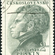 CZECHOSLOVAKIA - 1949: shows portrait of Alexander Pushkin, Russian poet — Stock Photo #39040495
