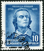 GERMANY - 1955: shows Friedrich von Schiller (1759-1805), poet, 150th anniversary of the death — Stock Photo