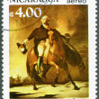 NICARAGUA - 1982: shows George Washington (1732-1799), Battle of Trenton, 250th birth anniversary — Stock Photo