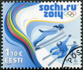 ESTONIA - 2014: shows the XXII Winter Olympic Games in Sochi 2014 — Stock Photo