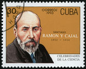 CUBA - 1993: shows portrait of Santiago Ramon y Cajal (1852-1934), histologist — Stock Photo