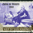 SAN MARINO - 1952: shows Christopher Columbus — ストック写真