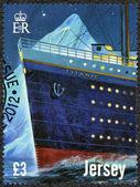 Jersey - 2012: ukazuje titanic - 100 let — Stock fotografie