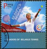 BELARUS - 2013: shows Victoria Azarenka, series Leaders of Belarus Tennis — Stock Photo