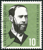 GERMANY - 1957: shows Heinrich Hertz (1857-1894), physicist, birth century — Stock Photo