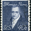 USA - 1969: shows portrait of Thomas Paine (1737-1809), by John Wesley Jarvis, Prominent Americans Issue — Stock Photo