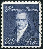 Usa - 1969 : montre le portrait de thomas paine (1737-1809), par john wesley jarvis, question d'américains éminents — Photo