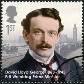 UNITED KINGDOM - 2013: shows prime minister David Lloyd George (1863-1945), series Great Britons — Stock Photo