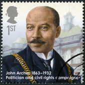 UNITED KINGDOM - 2013: shows John Archer (1863-1932), politician and civil rights campaigner — Stock Photo