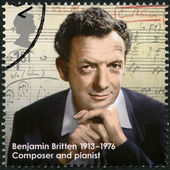 UNITED KINGDOM - 2013: shows Benjamin Britten (1913-1976), composer, series Great Britons — Stock Photo