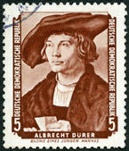 GERMANY - 1955: shows Portrait of Young Man, by Albrecht Durer (1471-1528) — Stock Photo