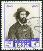 SAN MARINO - 1949: shows Ugo Bassi, Centenary of Garibaldi's escape to San Marino — Stock Photo