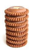 Stack av choklad cookies — Stockfoto