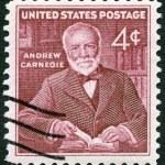 Постер, плакат: USA 1960: shows Andrew Carnegie 1835 1919 industrialist and philanthropist