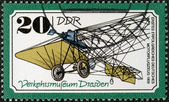 GERMANY - 1977: shows irst successful German plane, 1909, series Transportation Museum, Dresden — Stock Photo