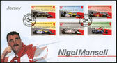 JERSEY - 2013: shows Nigel Mansell — Stock Photo